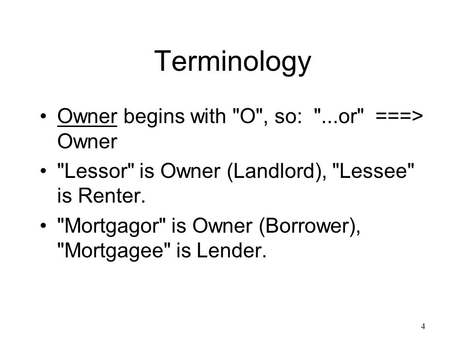 Terminology Owner begins with O , so: ...or ===> Owner