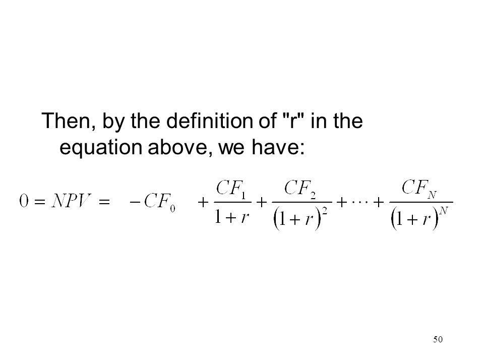 Then, by the definition of r in the equation above, we have: