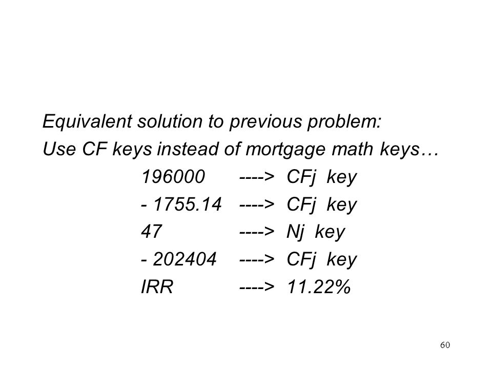 Equivalent solution to previous problem: