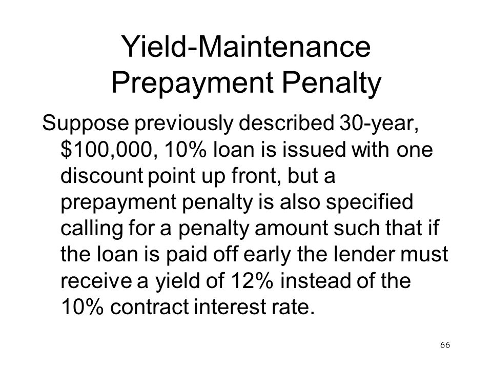 Yield-Maintenance Prepayment Penalty