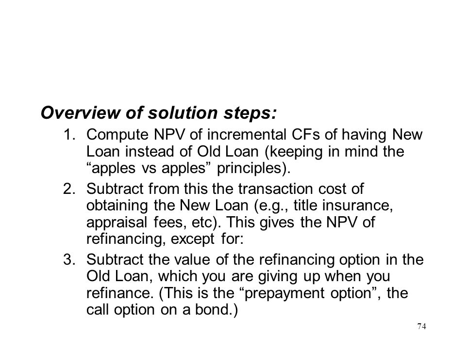 Overview of solution steps: