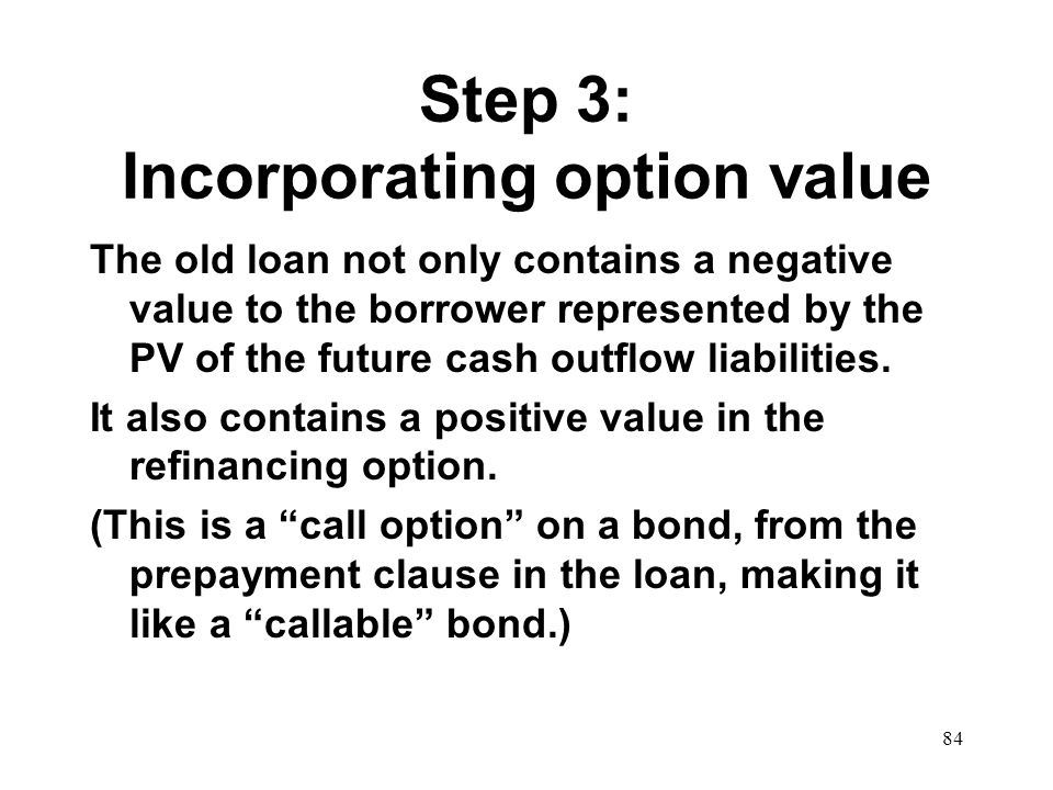 Step 3: Incorporating option value