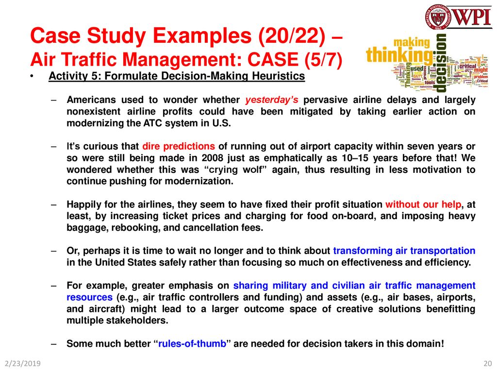 Case Study Examples (1/22) – SoS Example: (Abridged) Outline