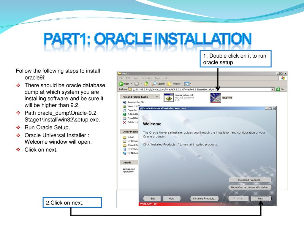 Before start the Installation process : - ppt download