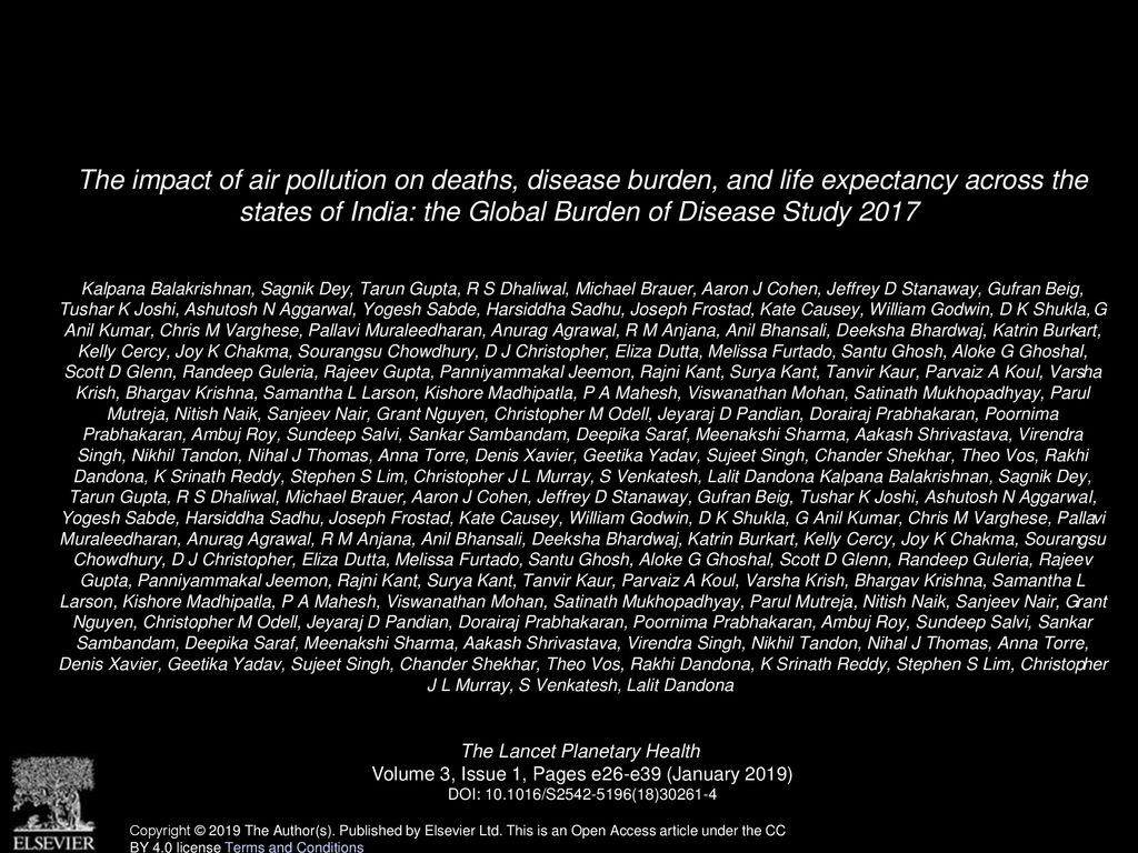 The impact of air pollution on deaths, disease burden, and