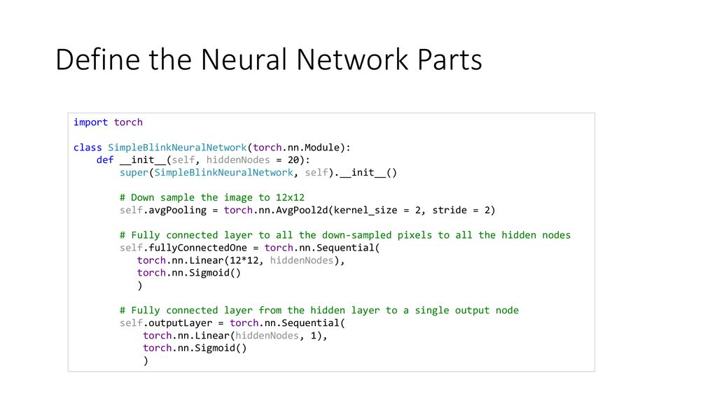 Overview of Neural Network Architecture Assignment Code