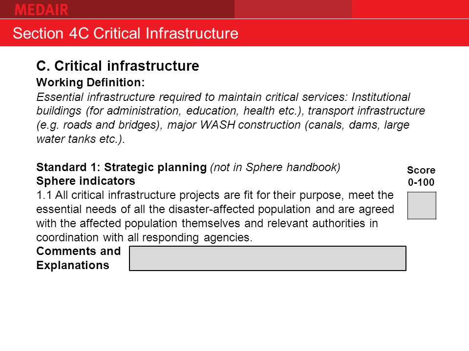 Section 4C Critical Infrastructure