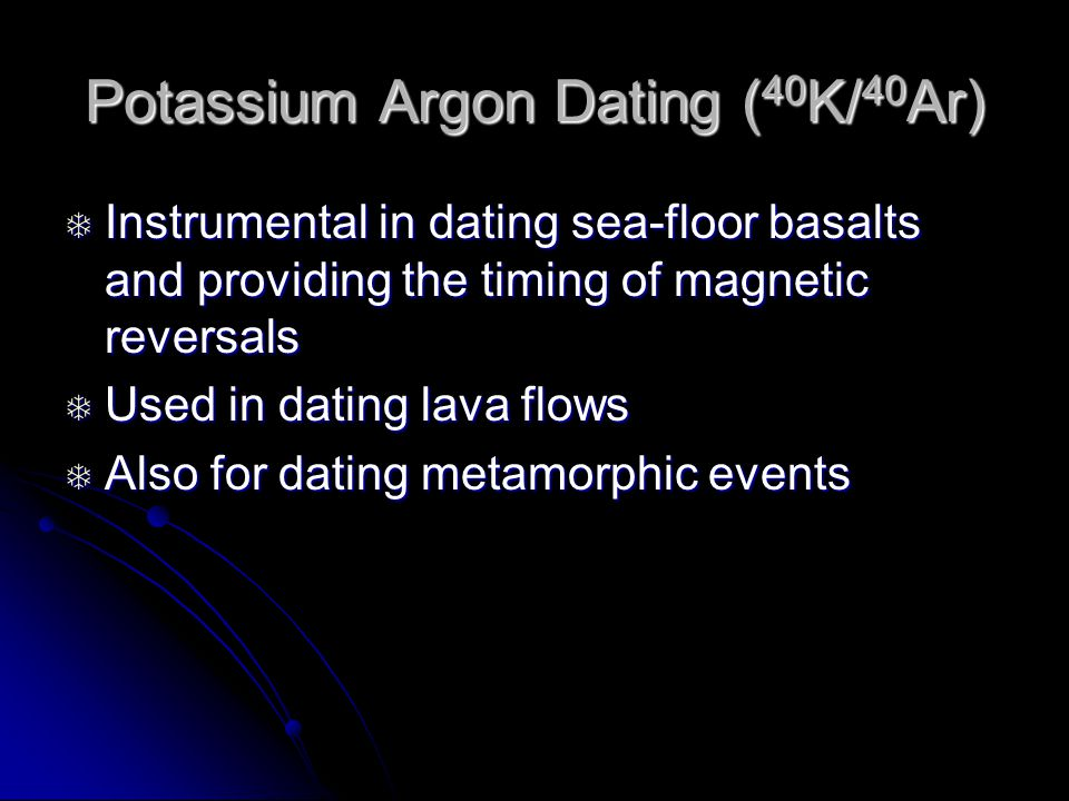 Dating the seafloor