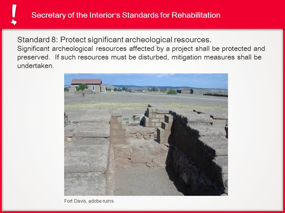 Secretary of the Interior's Standards for Rehabilitation