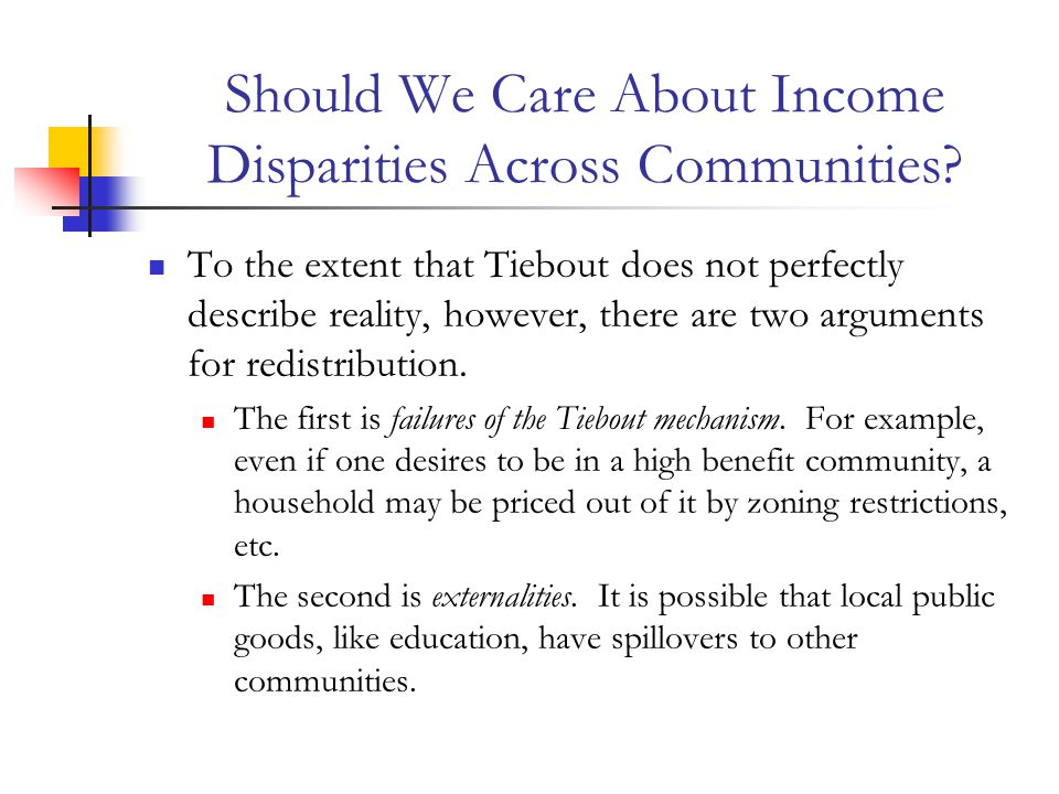 Should We Care About Income Disparities Across Communities