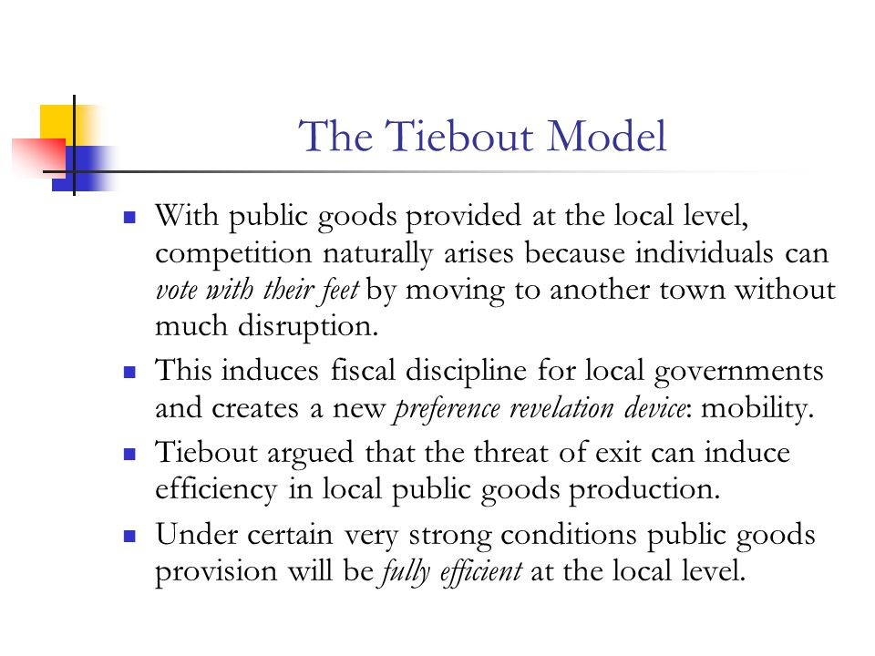 The Tiebout Model