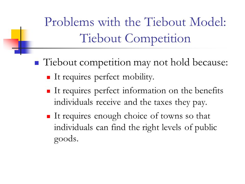 Problems with the Tiebout Model: Tiebout Competition