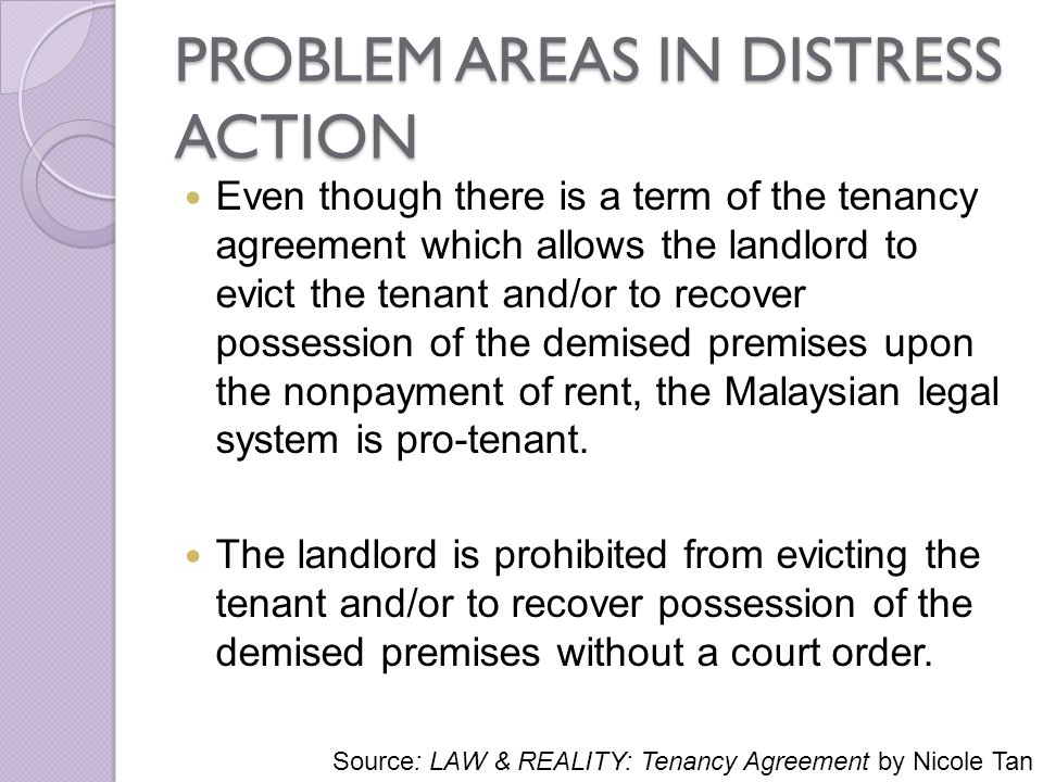 ISSUES IN TENANCY MATTERS IN MALAYSIA - ppt download