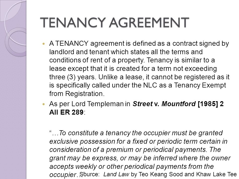 Issues in tenancy matters in malaysia ppt download tenancy agreement spiritdancerdesigns Image collections