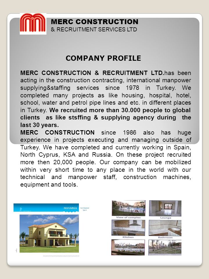 MERC CONSTRUCTION COMPANY PROFILE