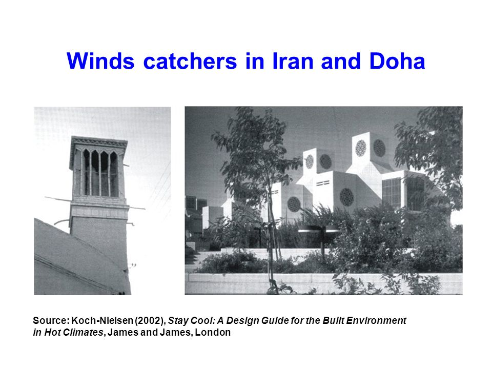 Winds catchers in Iran and Doha