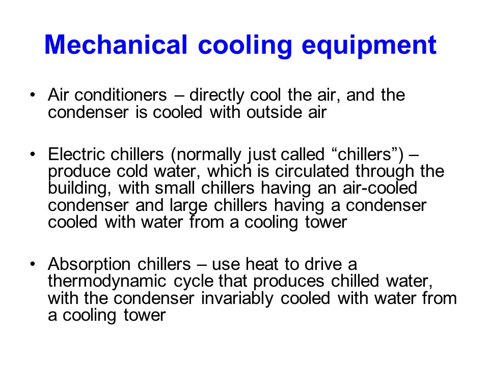 Mechanical cooling equipment