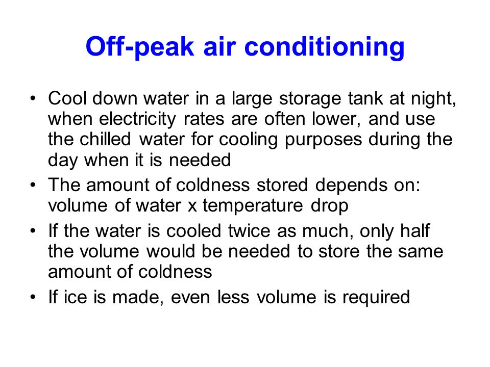 Off-peak air conditioning
