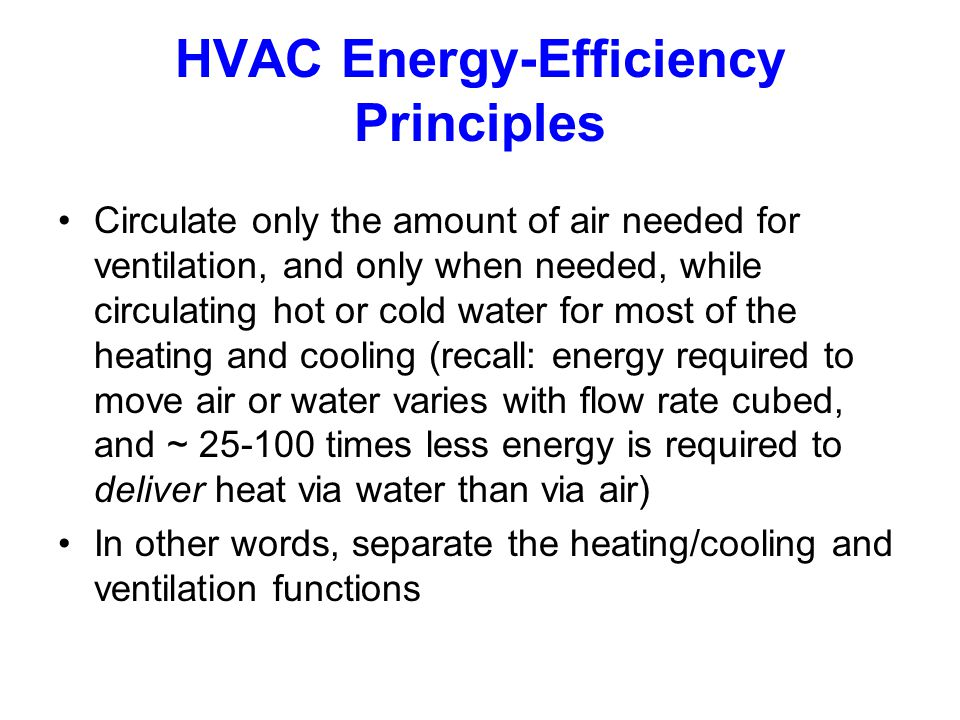 HVAC Energy-Efficiency Principles