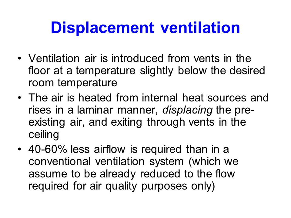 Displacement ventilation
