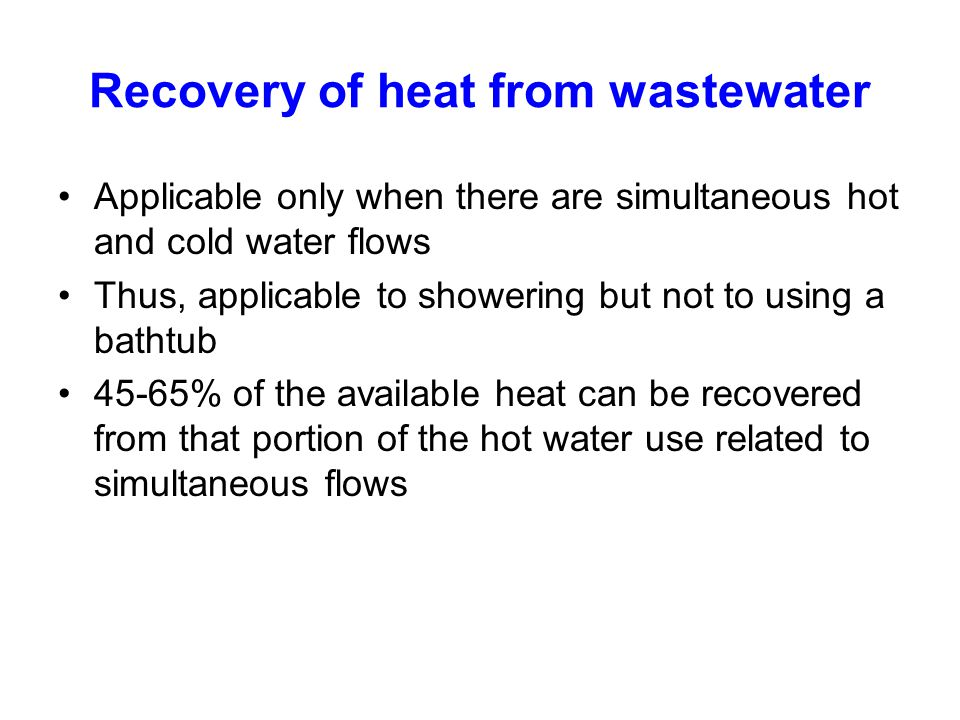Recovery of heat from wastewater