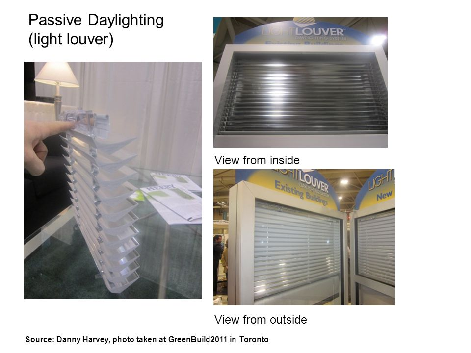 Passive Daylighting (light louver)