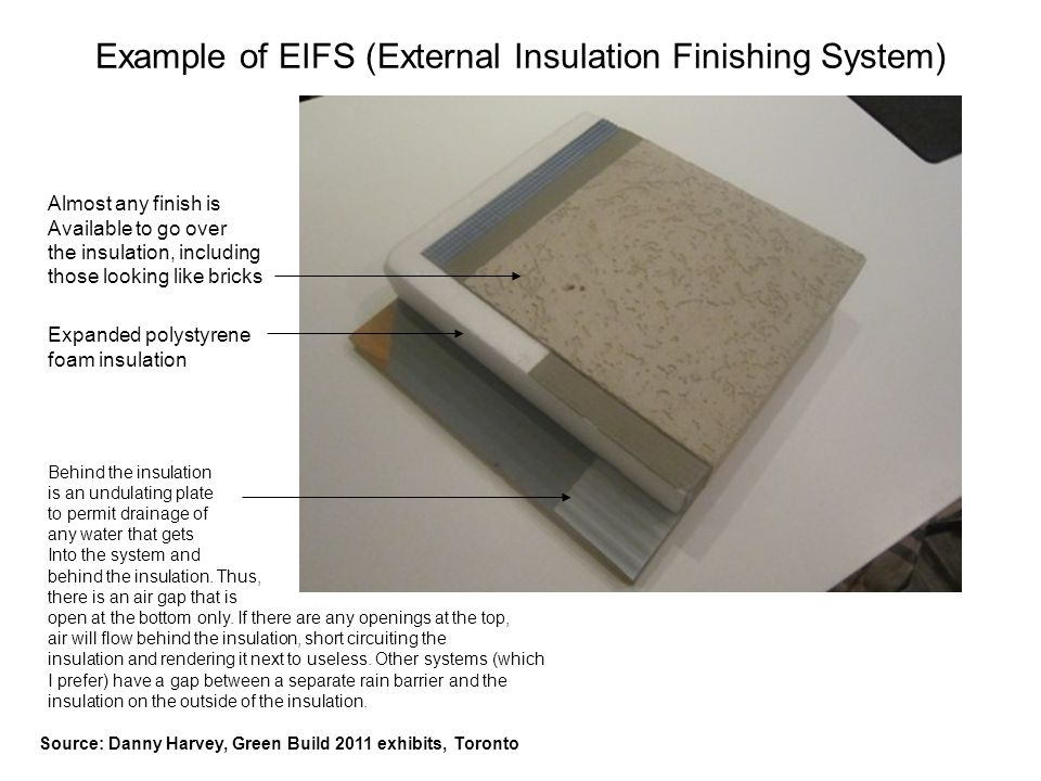 Example of EIFS (External Insulation Finishing System)
