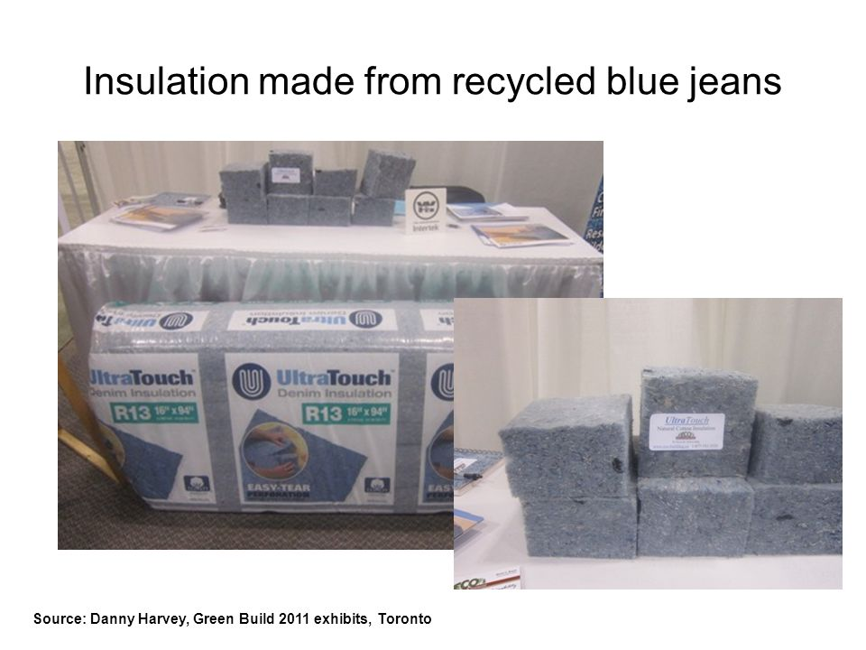 Insulation made from recycled blue jeans