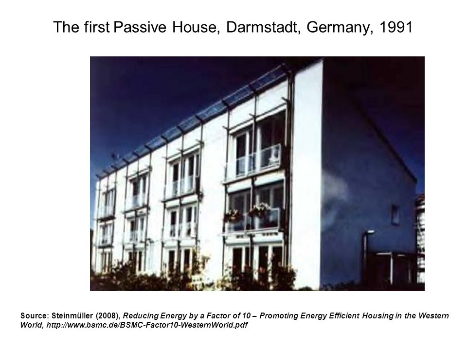 The first Passive House, Darmstadt, Germany, 1991