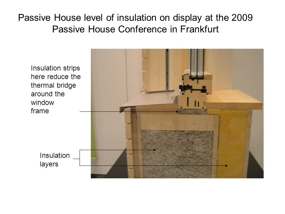 Passive House level of insulation on display at the 2009 Passive House Conference in Frankfurt