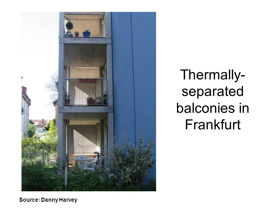 Thermally-separated balconies in Frankfurt