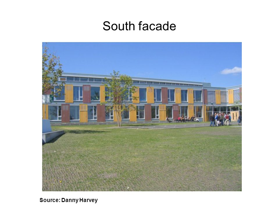 South facade Source: Danny Harvey