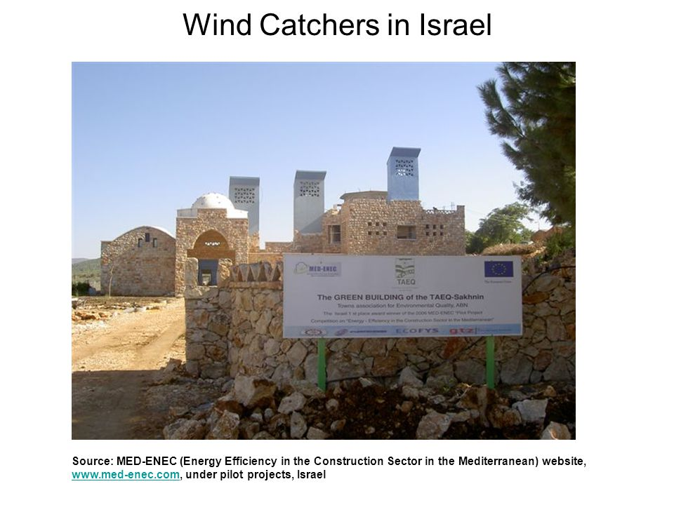 Wind Catchers in Israel