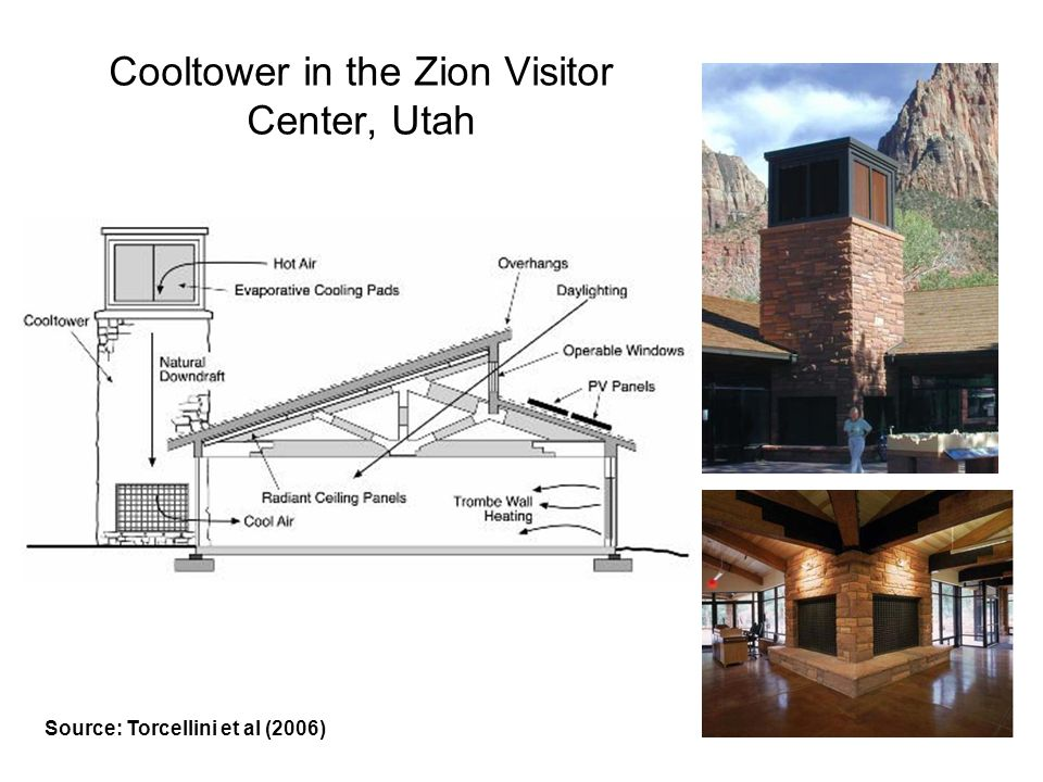 Cooltower in the Zion Visitor Center, Utah