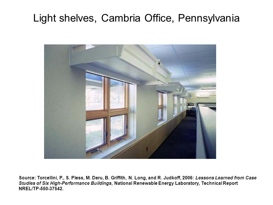 Light shelves, Cambria Office, Pennsylvania