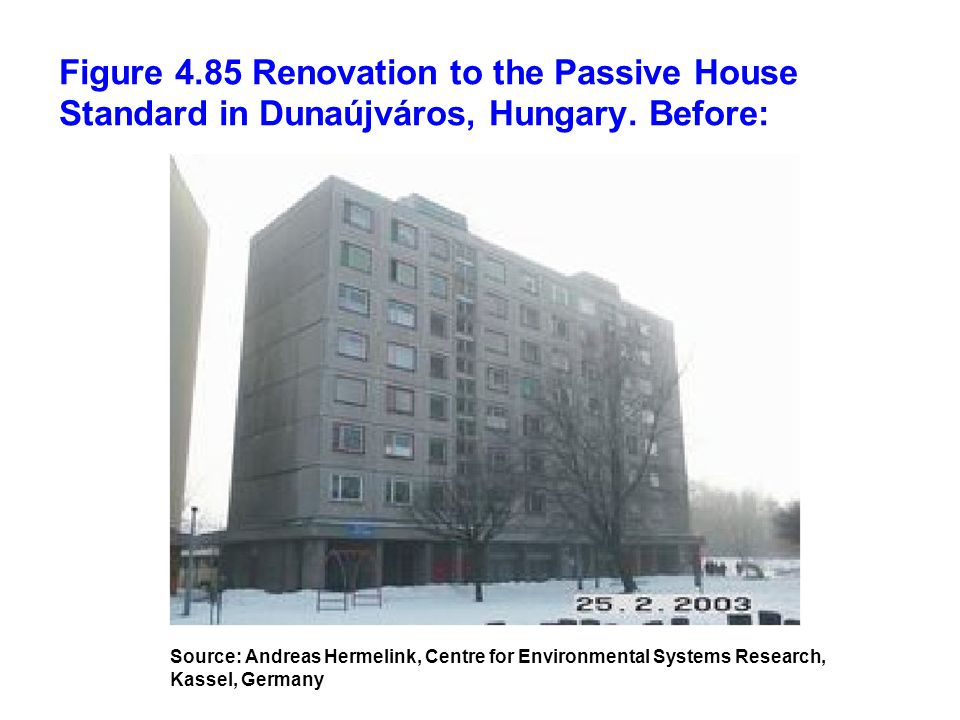 Figure 4.85 Renovation to the Passive House Standard in Dunaújváros, Hungary. Before: