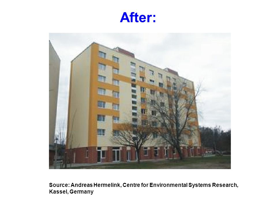 After: Source: Andreas Hermelink, Centre for Environmental Systems Research, Kassel, Germany