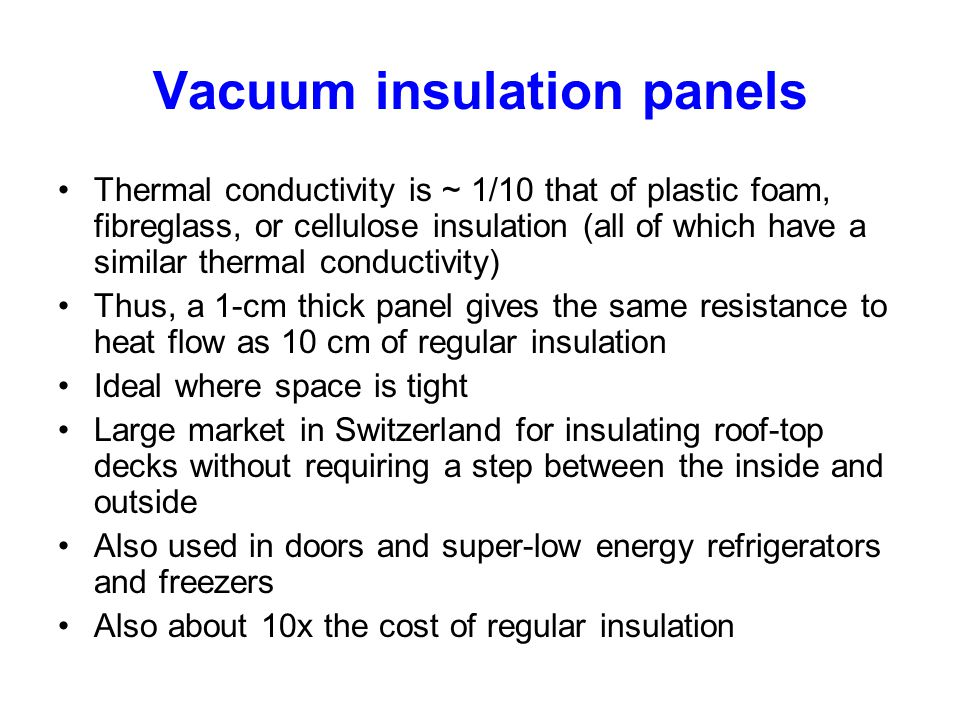 Vacuum insulation panels