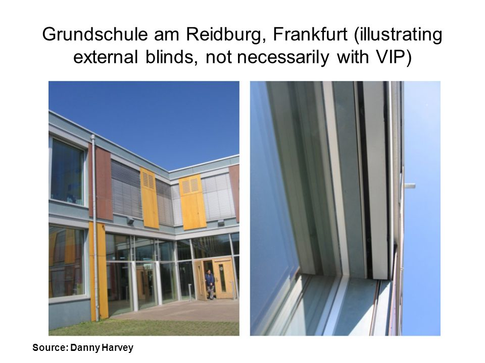 Grundschule am Reidburg, Frankfurt (illustrating external blinds, not necessarily with VIP)