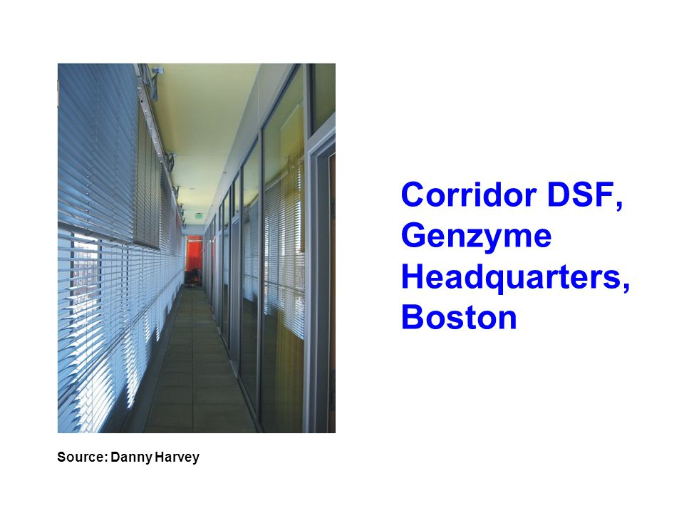 Corridor DSF, Genzyme Headquarters, Boston