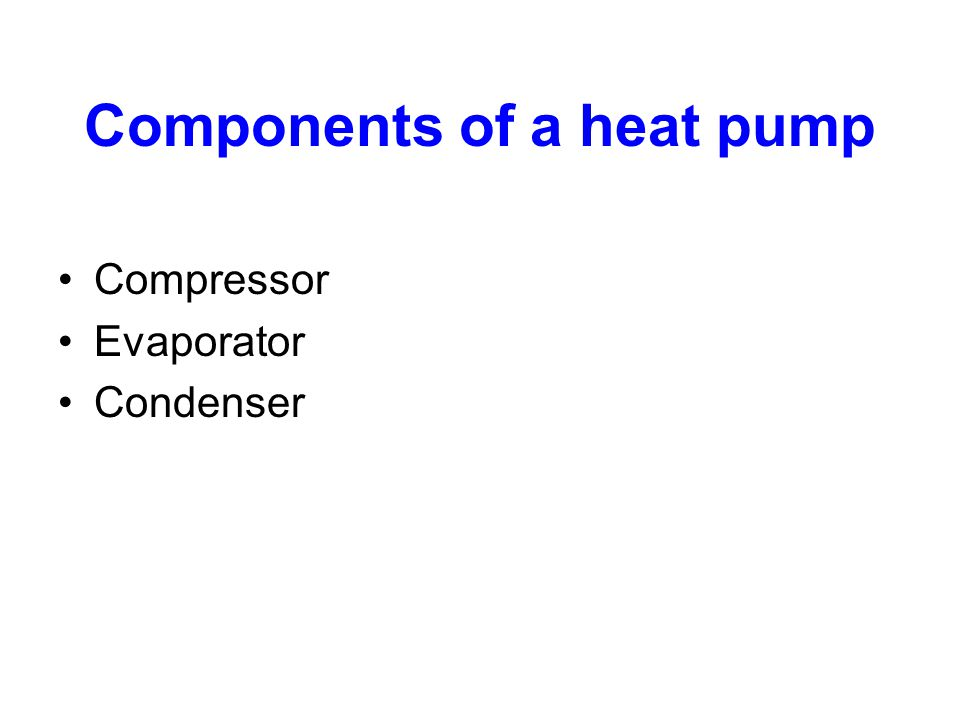 Components of a heat pump