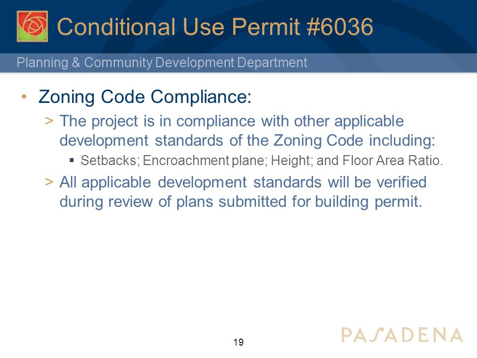 Conditional Use Permit #6036