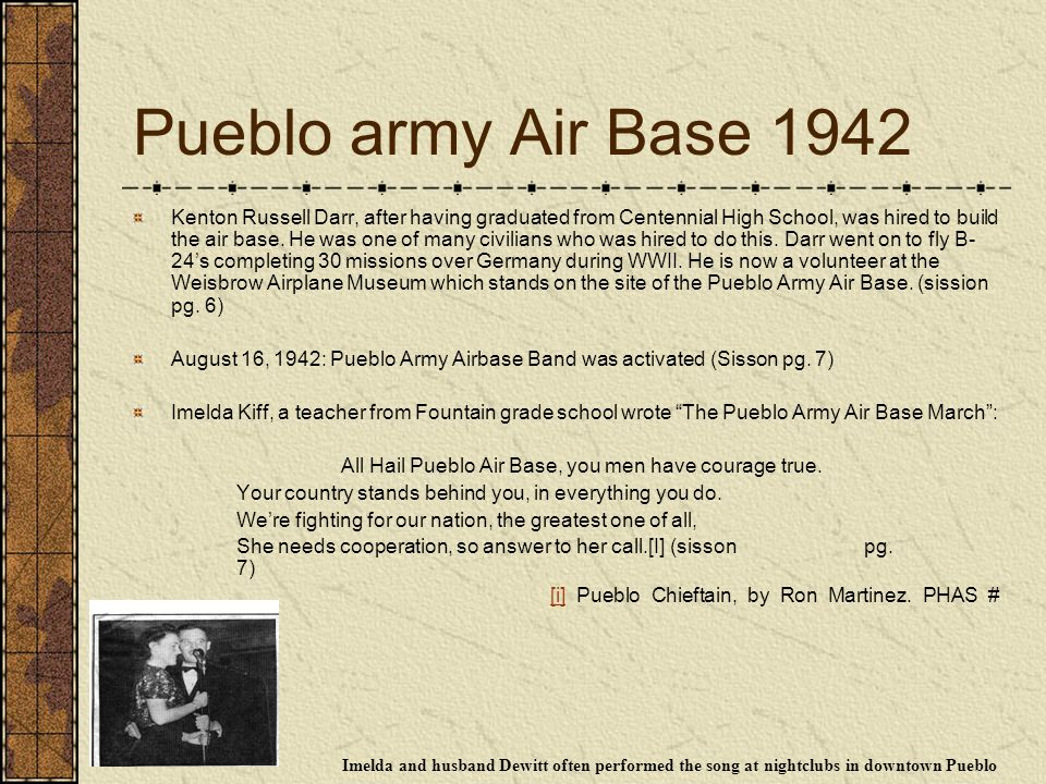 Pueblo army Air Base 1942