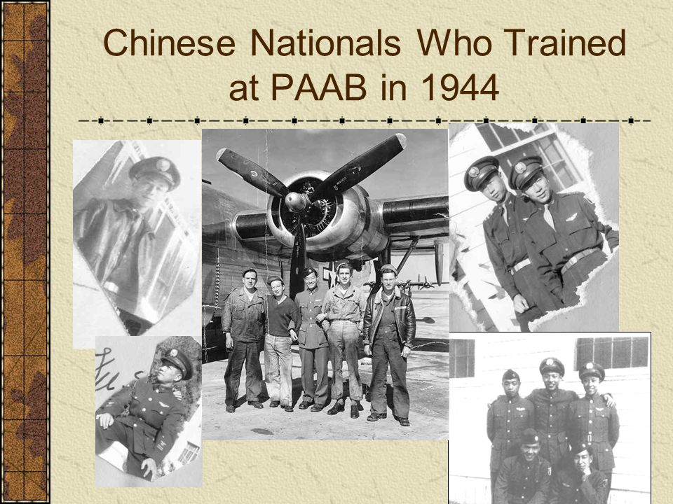 Chinese Nationals Who Trained at PAAB in 1944
