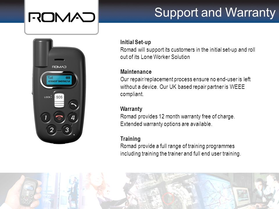 Support and Warranty Partner Support Support & Warranty Initial Set-up