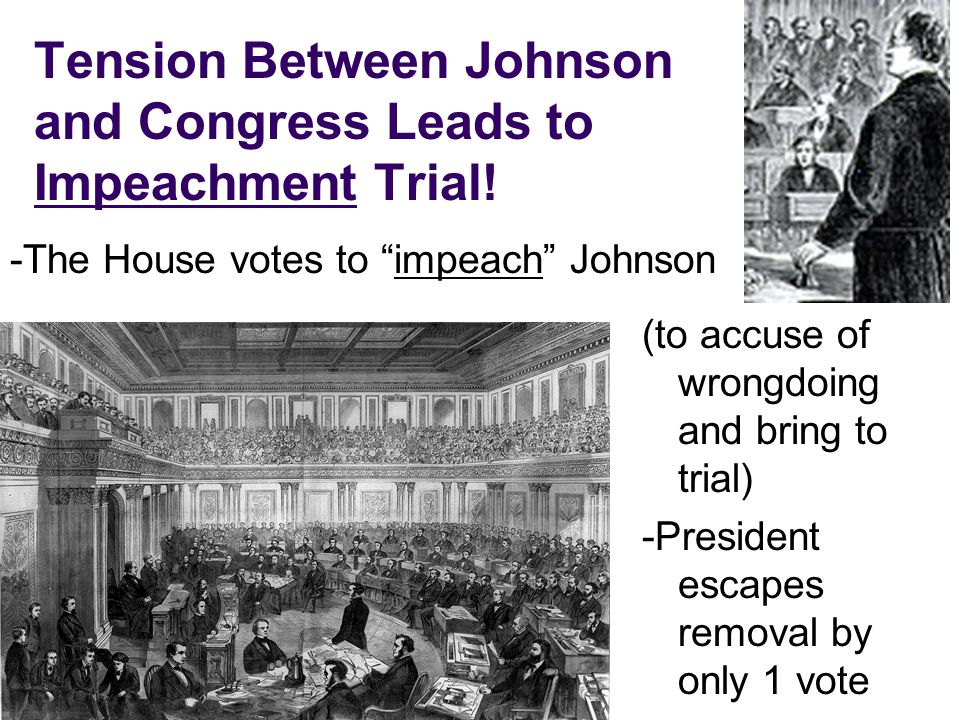 Tension Between Johnson and Congress Leads to Impeachment Trial!