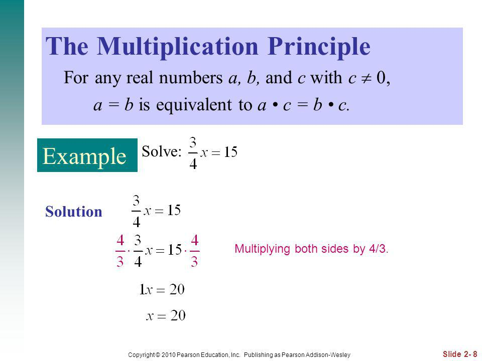 The Multiplication Principle