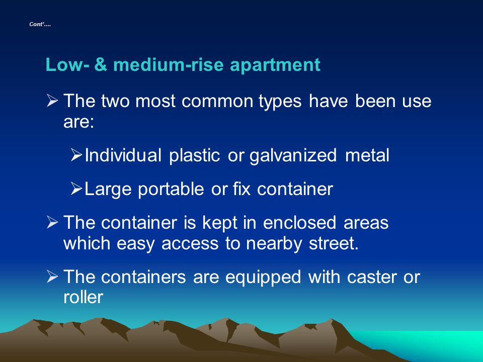 Low- & medium-rise apartment