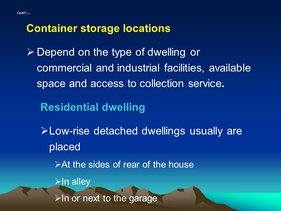 Container storage locations