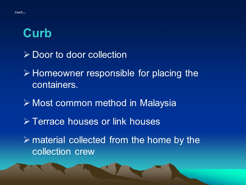 Curb Door to door collection